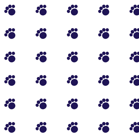 blue_paw fabric by suemc on Spoonflower - custom fabric