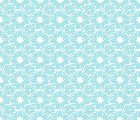 vintage silhouette blue fabric by christiem on Spoonflower - custom fabric