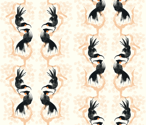 Huia Song fabric by spoonnan on Spoonflower - custom fabric