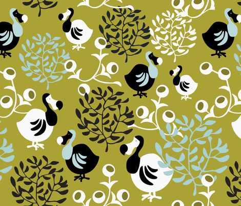 The Dodo fabric by addilou on Spoonflower - custom fabric