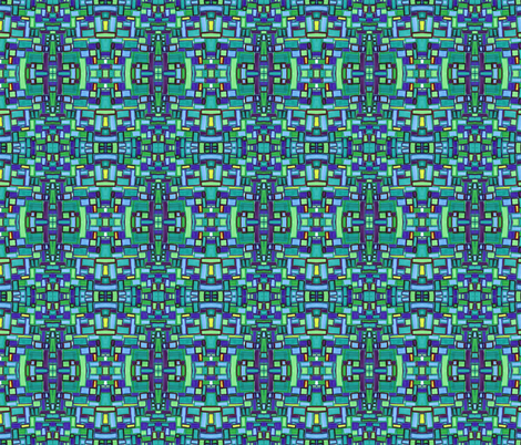 mod tiles in bluegreen fabric by kcs on Spoonflower - custom fabric