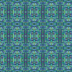 mod tiles in bluegreen