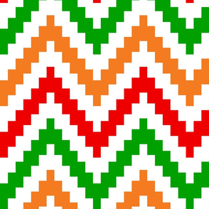 Orange Red Green Chevron