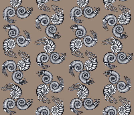 Ammonites fabric by annacole on Spoonflower - custom fabric