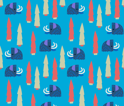SYH-WoolleyMammoth fabric by sorryyourehappy on Spoonflower - custom fabric