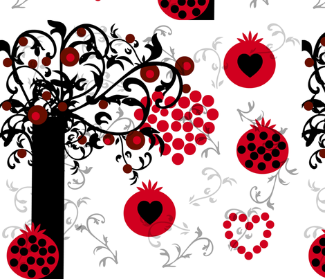 Love of Fruit fabric by kimi-d on Spoonflower - custom fabric