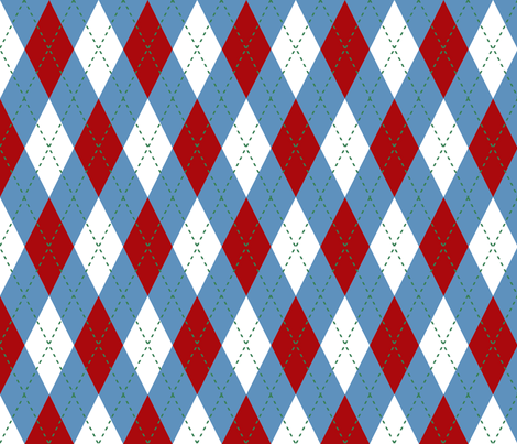 Wizard of Oz - Argyle by JoyfulRose fabric by joyfulrose on Spoonflower - custom fabric