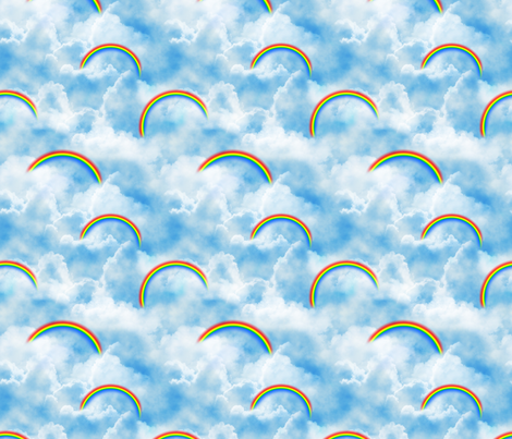 Wizard of Oz - Blue Skies and Rainbows by JoyfulRose fabric by joyfulrose on Spoonflower - custom fabric