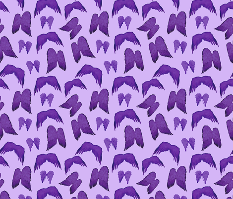 Wizard of Oz - Purple Flying Monkey Wings fabric by joyfulrose on Spoonflower - custom fabric