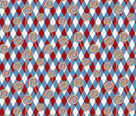Wizard of Oz - Argyle Lollipop Guild by JoyfulRose fabric by joyfulrose on Spoonflower - custom fabric