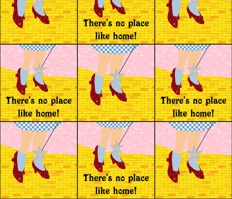 Wizard of Oz - No Place Like Home fabric by joyfulrose on Spoonflower - custom fabric