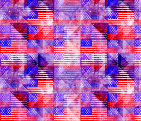 American Flags fabric by racheljones on Spoonflower - custom fabric