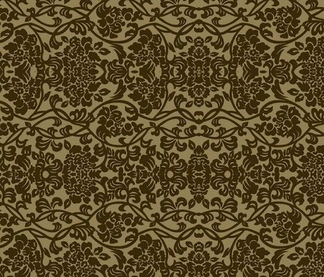 Haversham Damask large fabric by flyingfish on Spoonflower - custom fabric