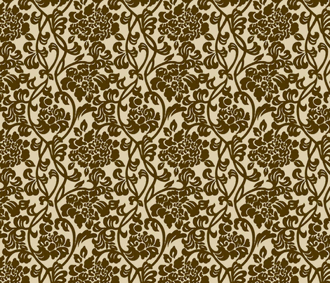 Haversham Vines large fabric by flyingfish on Spoonflower - custom fabric
