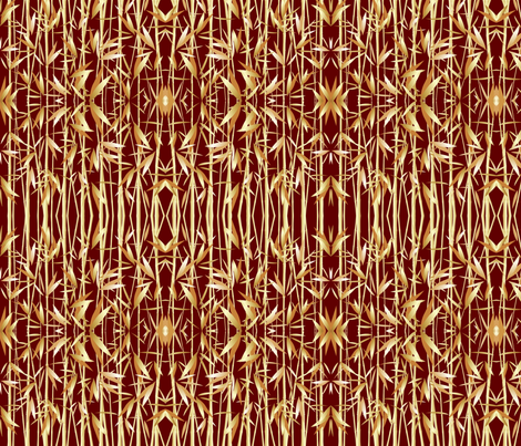 Bamboo Tiki fabric by flyingfish on Spoonflower - custom fabric