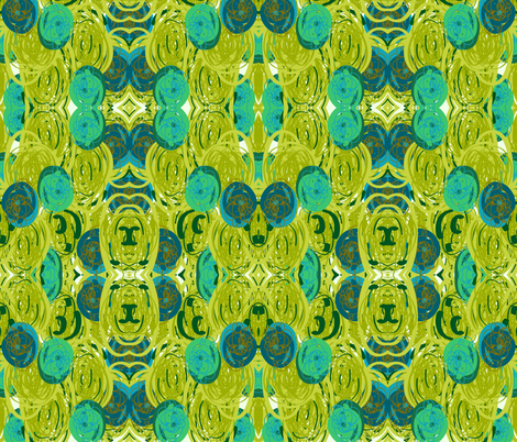 Suzanna in Green fabric by ashley_cooper_design_ on Spoonflower - custom fabric