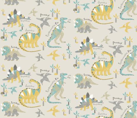 LizaLewisdinopattern fabric by lizalew on Spoonflower - custom fabric