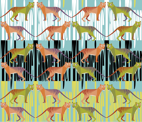 TassieTiger fabric by j_a_m_b on Spoonflower - custom fabric
