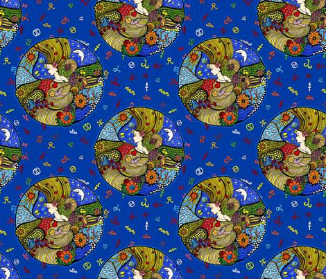 Circle of elements fabric by dinorahdesign on Spoonflower - custom fabric