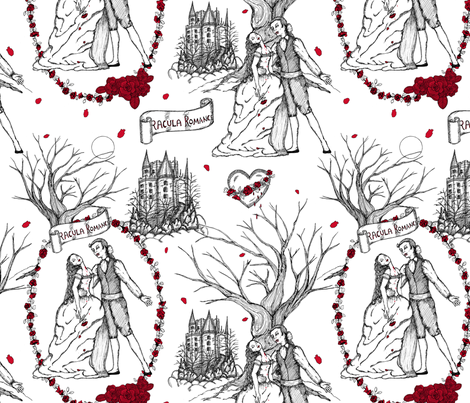 Dracula strikes again toile fabric by dinorahdesign on Spoonflower - custom fabric
