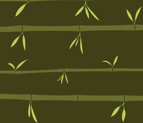 Bamboo Forest fabric by flyingfish on Spoonflower - custom fabric