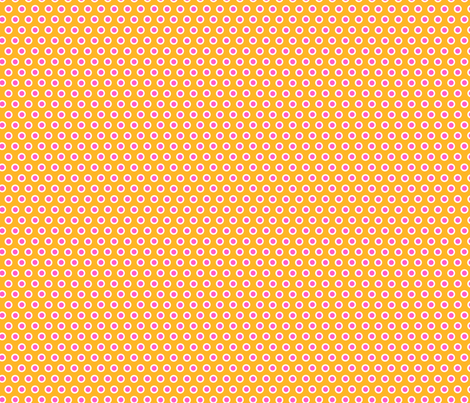 Dotty Orange Small fabric by johanna_lange_designs on Spoonflower - custom fabric