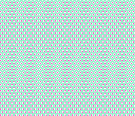 Dotty Turquoise Small fabric by johanna_lange_designs on Spoonflower - custom fabric