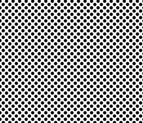 BW-polka_dots fabric by terriaw on Spoonflower - custom fabric