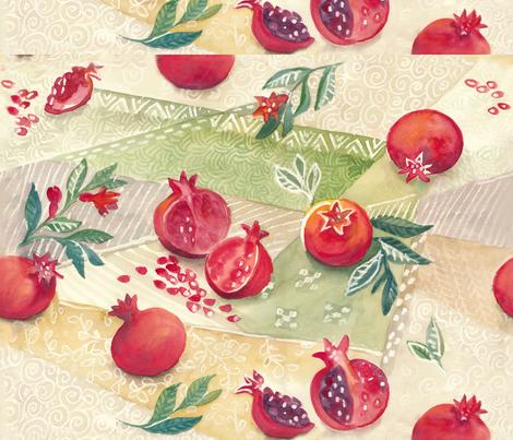 pomegranate_light fabric by johanna_design on Spoonflower - custom fabric