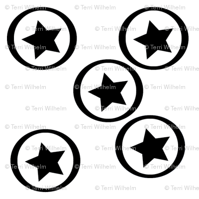 BW-Stars_on_Circles