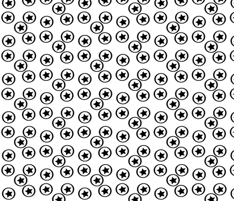 BW-Stars_on_Circles fabric by terriaw on Spoonflower - custom fabric