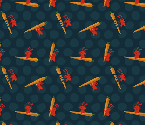 la bien carotte fabric by grafiklieschen on Spoonflower - custom fabric