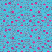 Pink Flower and Pink Spot Design