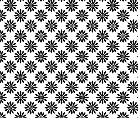 BW-starburst_tile fabric by terriaw on Spoonflower - custom fabric