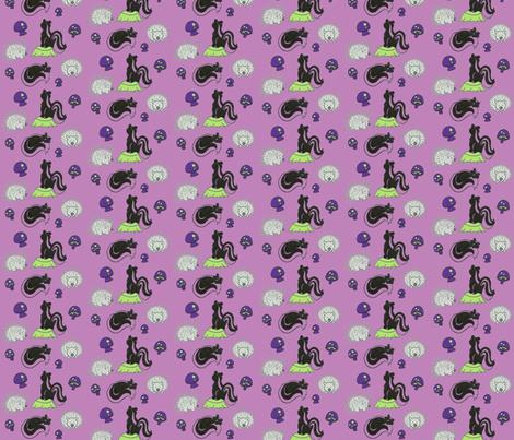 Friend or Foe in Purple fabric by kbexquisites on Spoonflower - custom fabric