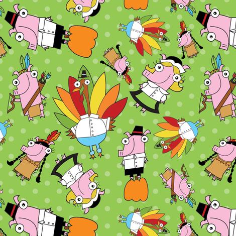 Thanksgiving Crew fabric by pigandpumpkin on Spoonflower - custom fabric