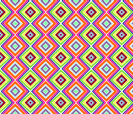 Bright, Stripey Diamonds fabric by stitching_dvm on Spoonflower - custom fabric