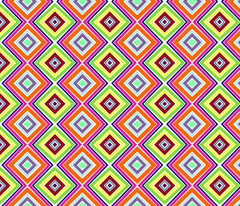 Bright, Stripey Diamonds fabric by stitching_dvm on Spoonflower - custom fabric