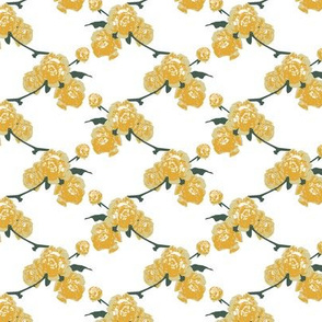 Retro yellow roses