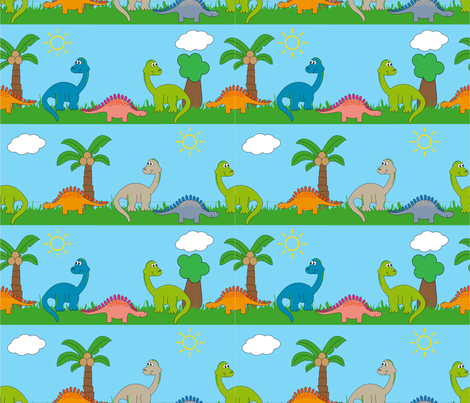 dinosaur ROAR  fabric by jlwillustration on Spoonflower - custom fabric