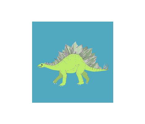 stegosaurus fabric by cherrybristow on Spoonflower - custom fabric