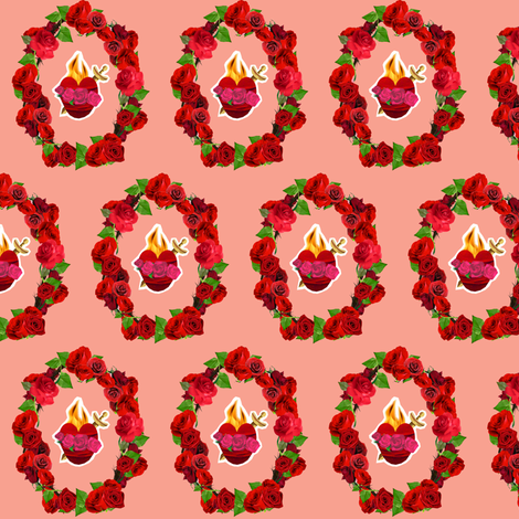 Mary's Immaculate heart fabric by magneticcatholic on Spoonflower - custom fabric