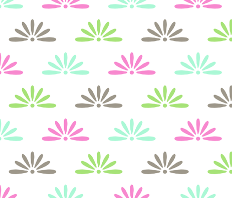lotus_burst fabric by christiem on Spoonflower - custom fabric