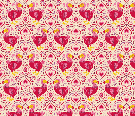 dodo-love fabric by tabula_rosi on Spoonflower - custom fabric
