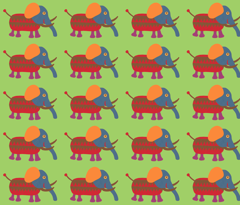 mixed up mammoth pale green fabric by weebeastiecreations on Spoonflower - custom fabric