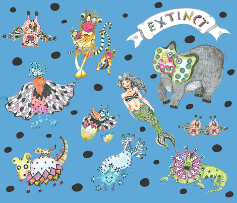 animal_extinct fabric by maribel on Spoonflower - custom fabric