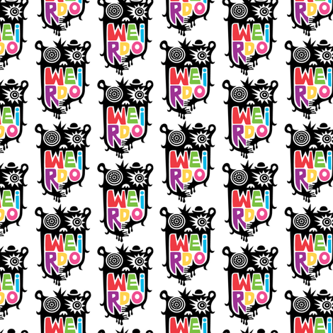 Weirdo  fabric by andibird on Spoonflower - custom fabric
