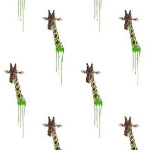 Drippy Giraffe Green