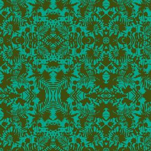 Jungle Damask turquoise