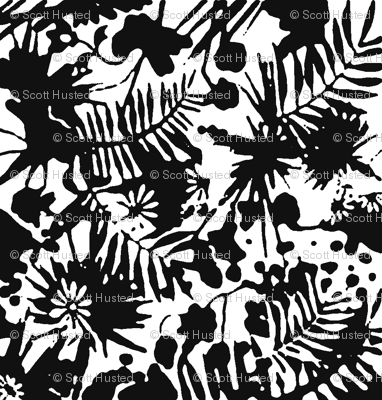 Jungle Damask black